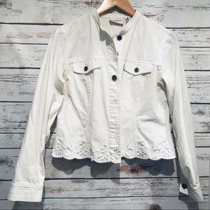 White Jean Jacket by Liz